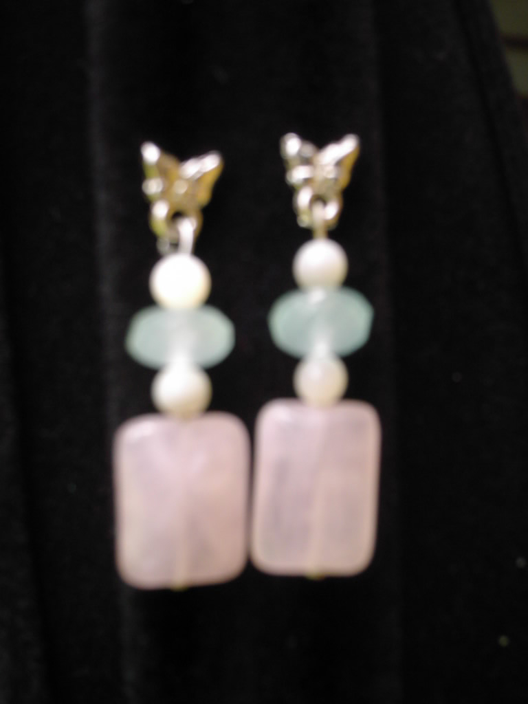Earring & jewellery in mineral : semi-precious stones from Brazil - Jewel from Minas Gerais