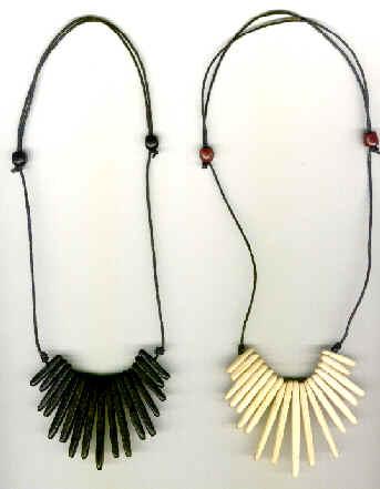 collier indien bois