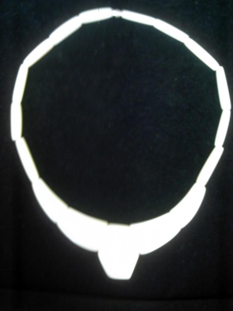 collier tagua poli avec vissoir