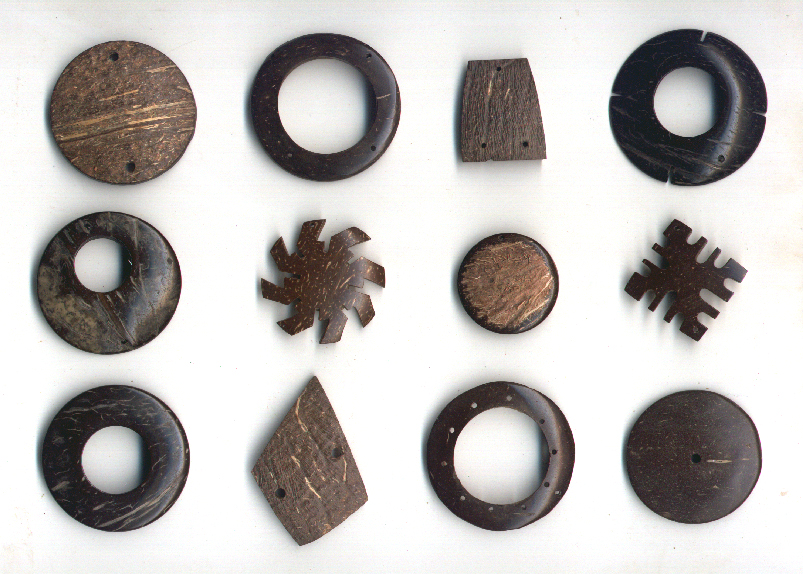 Pieces en noix de coco