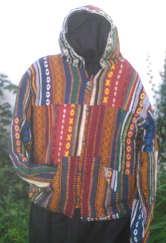 Jacket from Nepalpatchwork doubled polar thickness