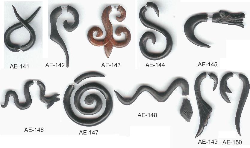 Boucles d'oreilles bois et argent