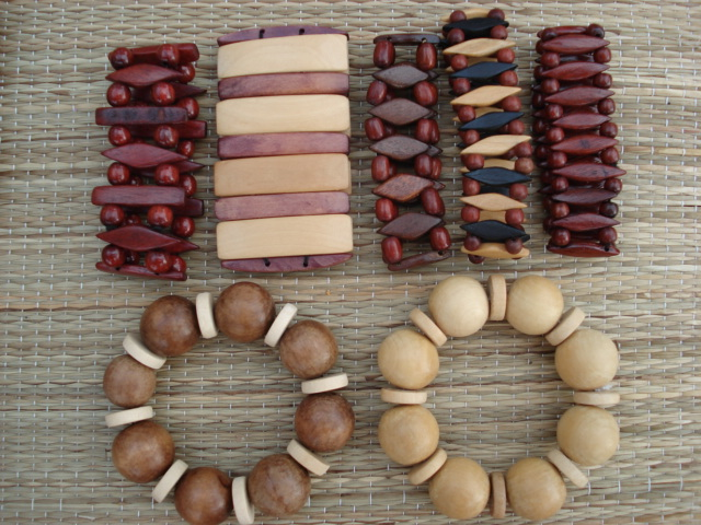 bracelets brésiliens en bois ipé