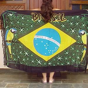 canga pareo sarong drapeau brésil aras