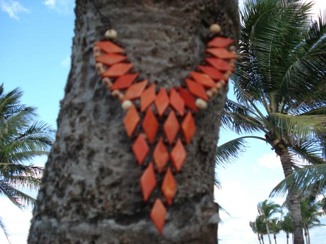 Collar de hueso nuez de coco semilla de palmera açai