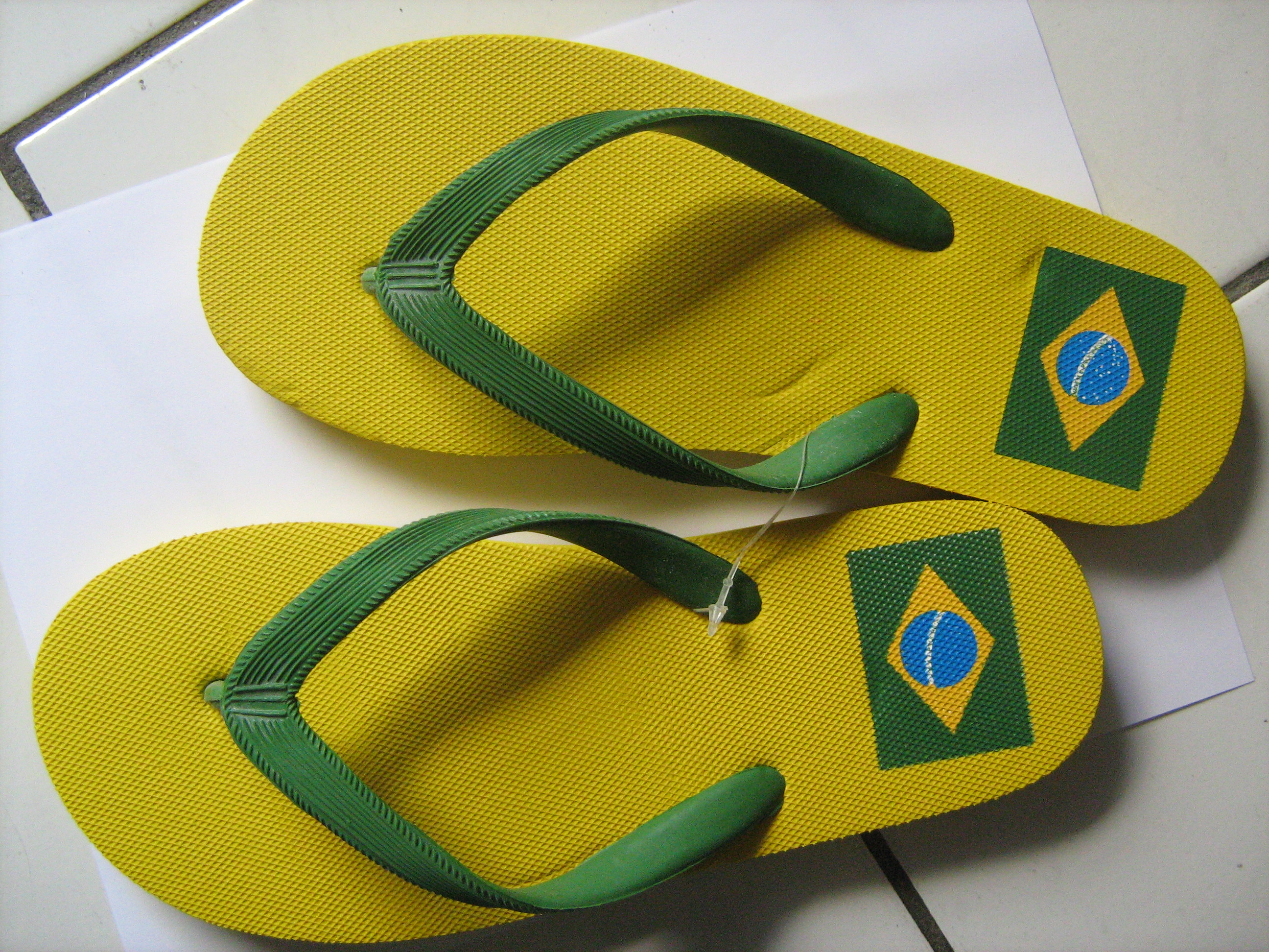 sandal from Brazil with brazilian flag